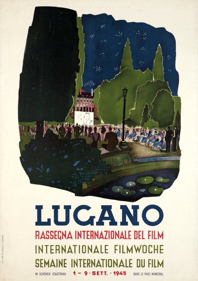 Lugano, Rassegna Internationales del Film, semaine internationale du film, 1945