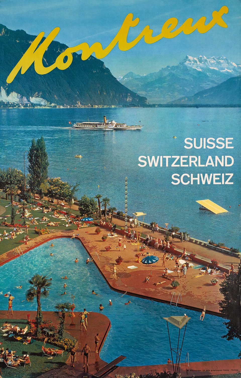 Montreux – Affiche ancienne –  ANONYME – 1970