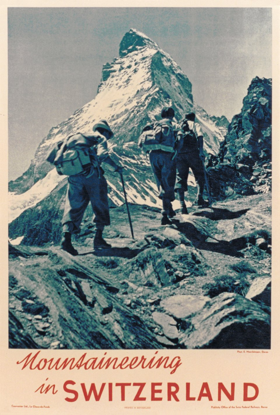 Mountaineering in Switzerland – Affiche ancienne – Emil MEERKAMPER – 1937