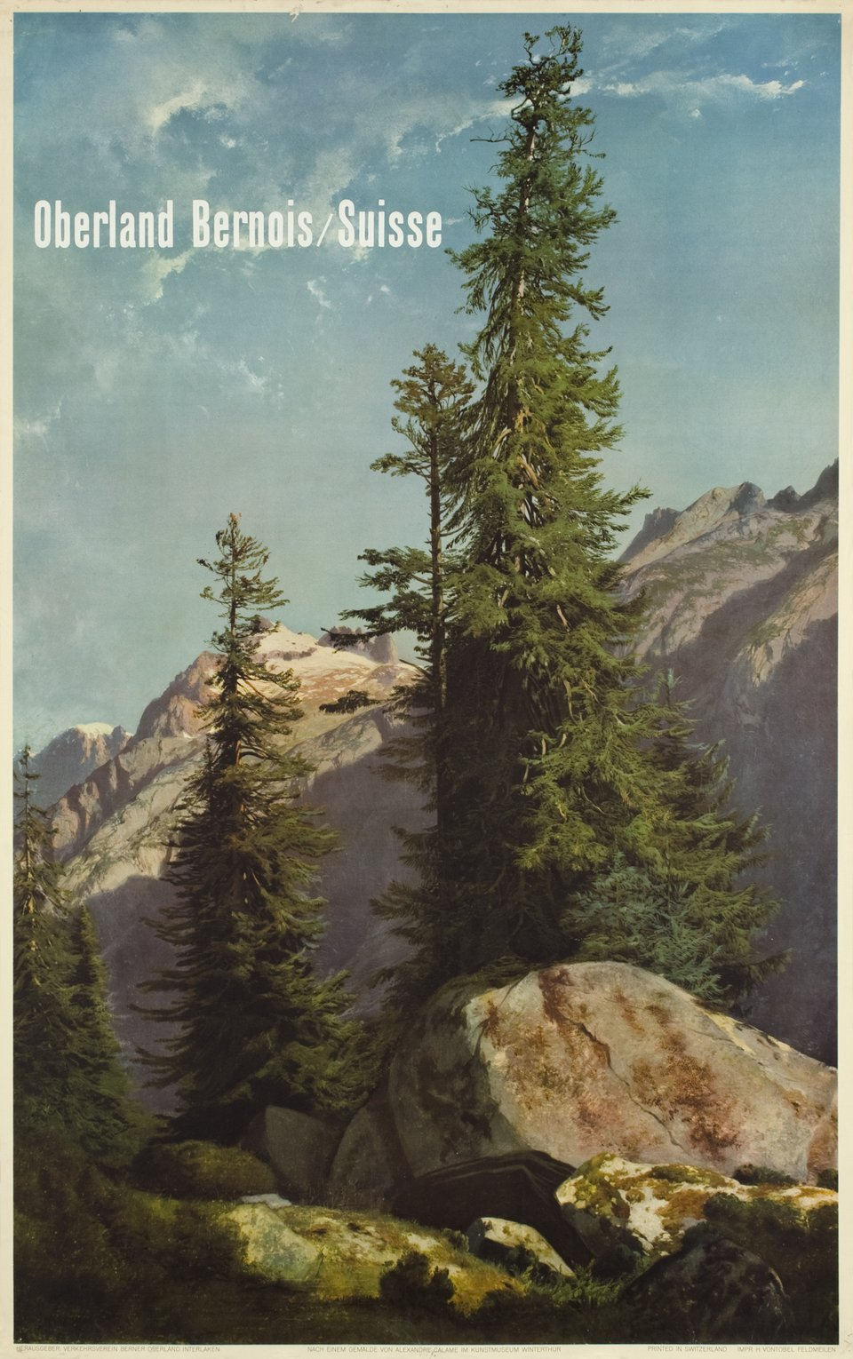 Oberland Bernois – Affiche ancienne – Alexandre CALAME – 1953