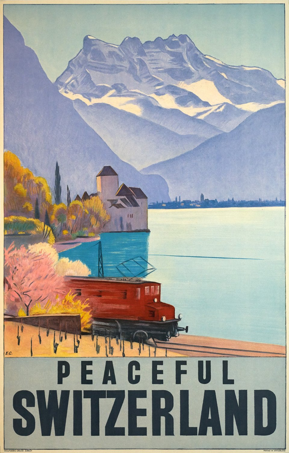 Peaceful Switzerland – Vintage poster – Emil CARDINAUX – 1928