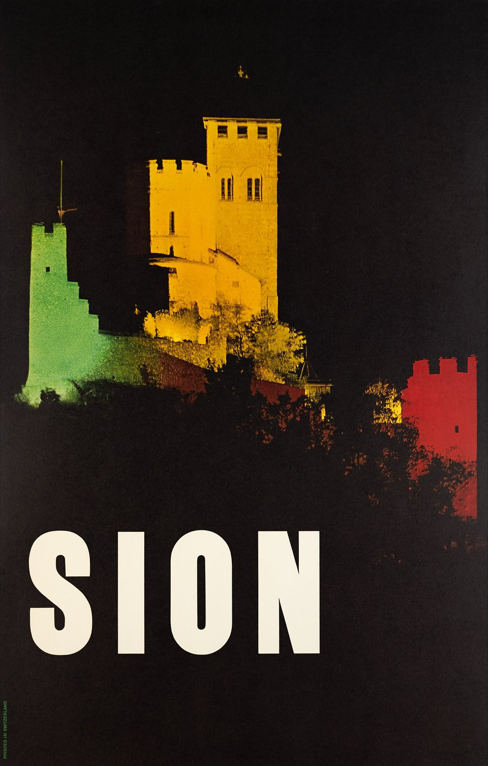 Sion – Affiche ancienne – STUDIO CAMERA – 1965