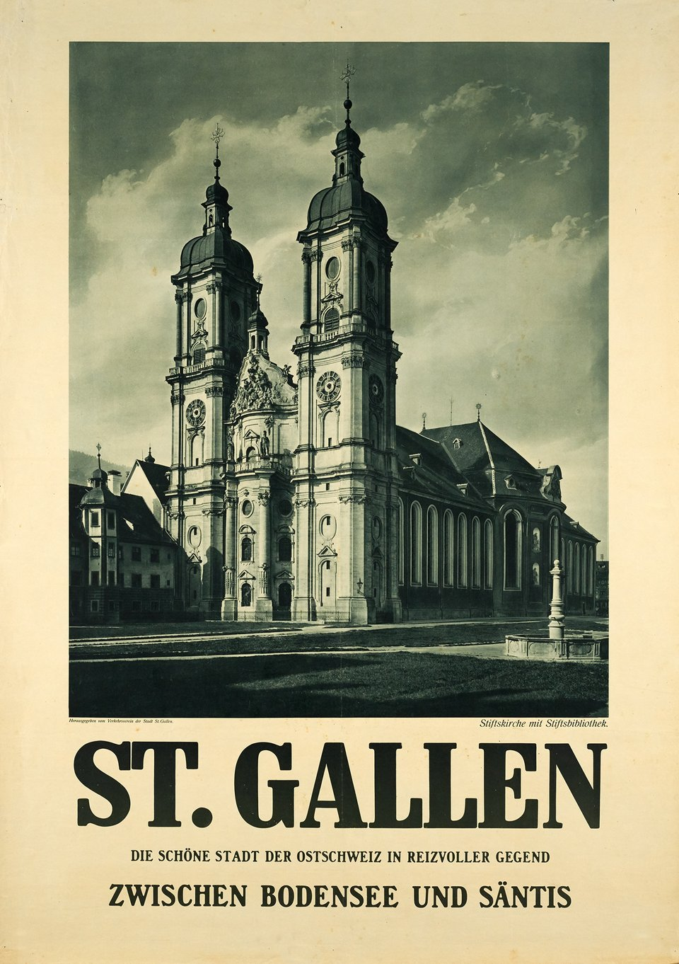 St. Gallen – Vintage poster – ANONYME – 1925