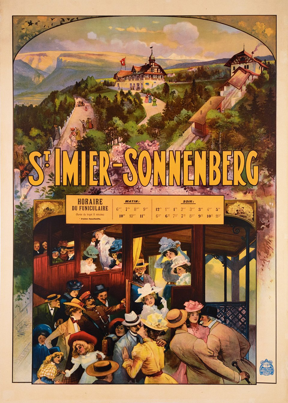 St Imier, Sonnenberg – Affiche ancienne – ANONYME – 1903