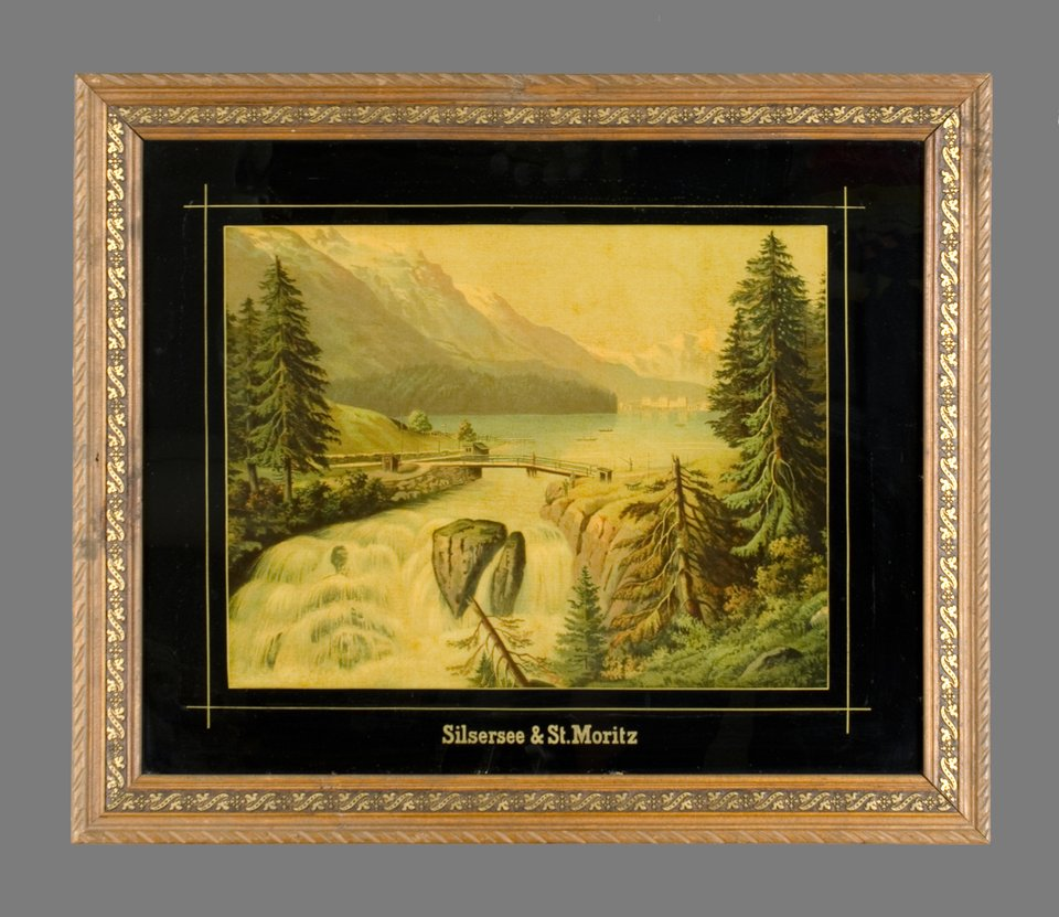 St.Moritz & Silsersee – Affiche ancienne –  ANONYME – 1890