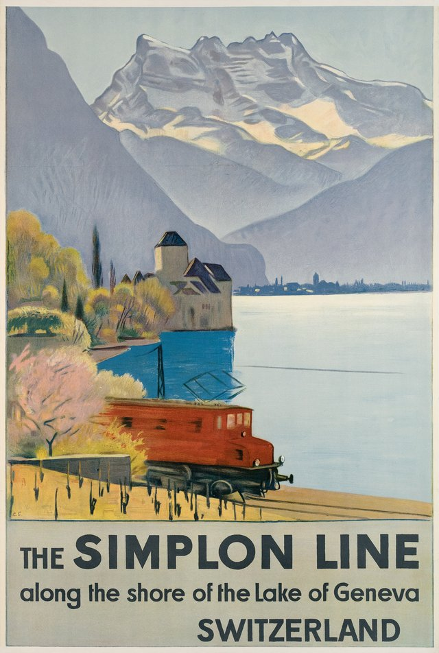 The Simplon Line, Along the shore of the Lake of Geneva, Switzerland