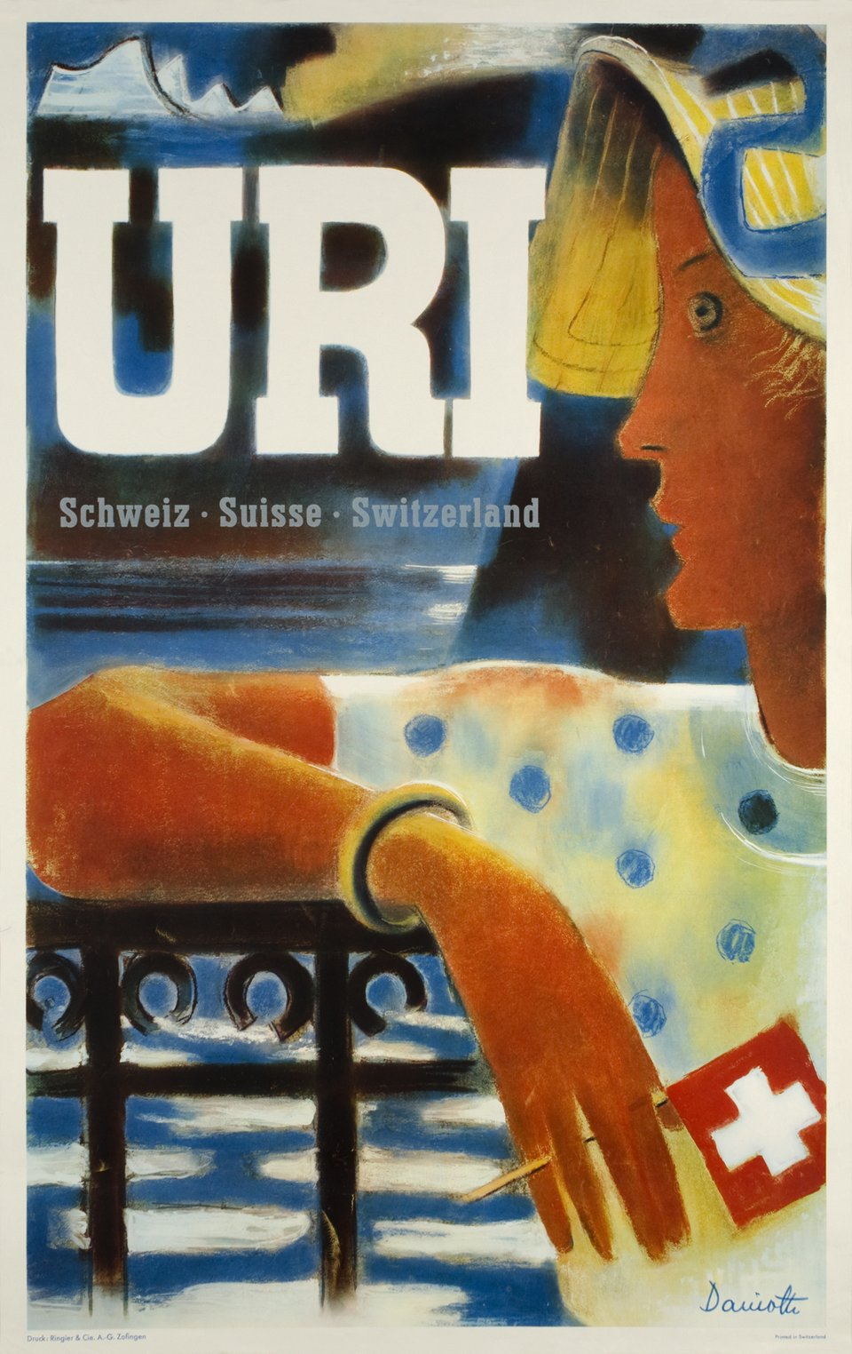 Uri, Schweiz-Suisse-Switzerland – Affiche ancienne – Einrich DANIOTH – 1936