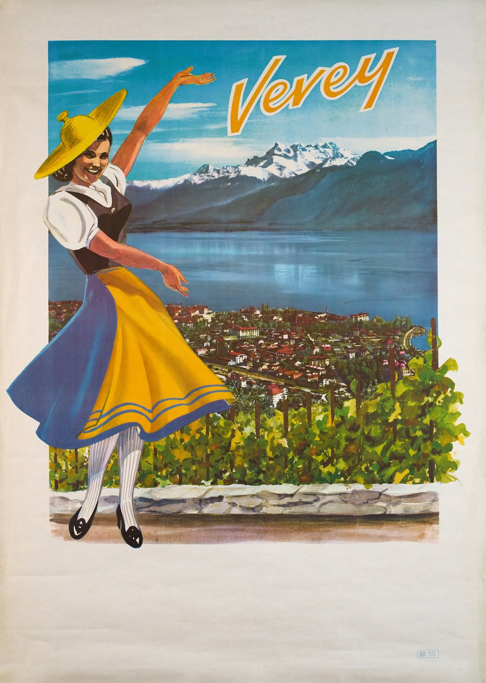 Vevey – Affiche ancienne – ANONYME – 1950