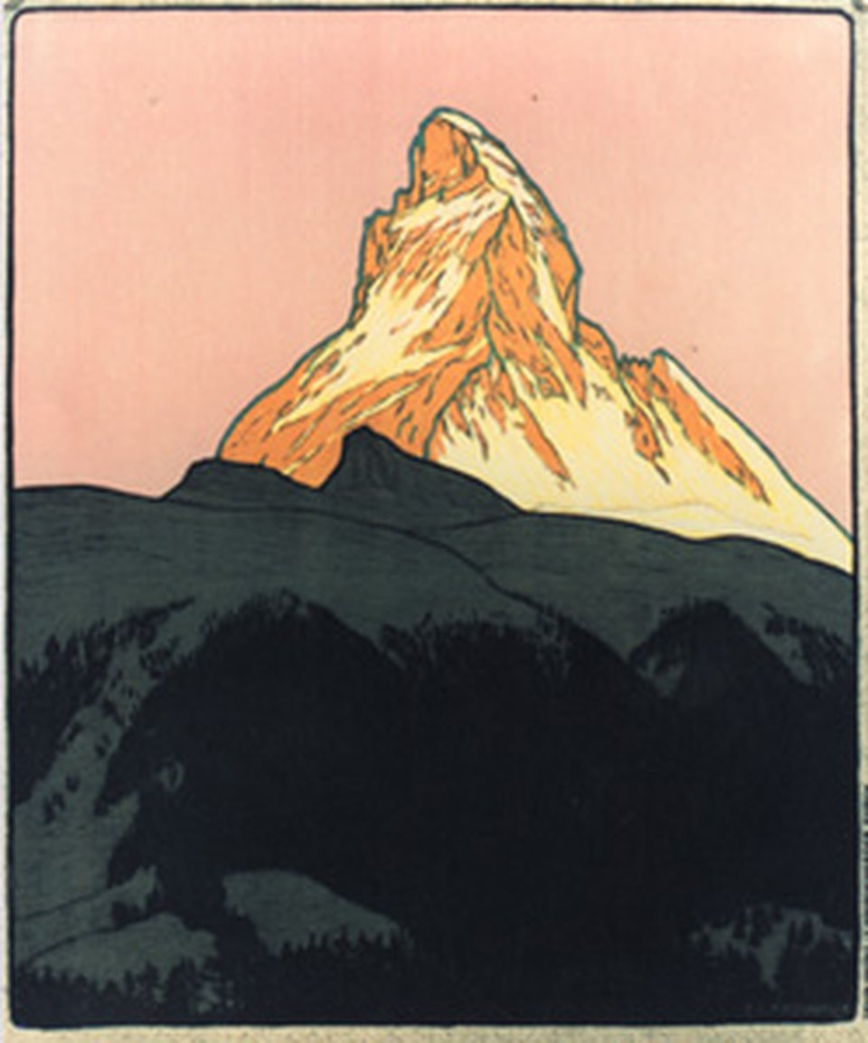 Zermatt poster without the text – Vintage poster – Emil CARDINAUX – 1908