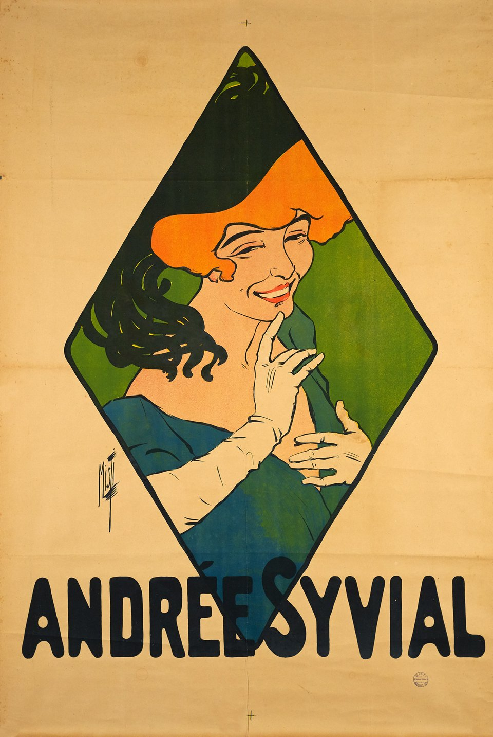Andrée Syvial – Affiche ancienne – MISTI – 1900