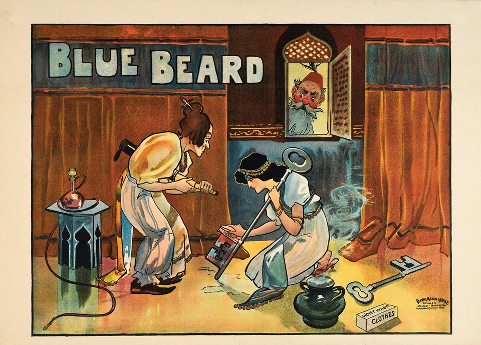 Blue Beard – Vintage poster – ANONYME – 1900