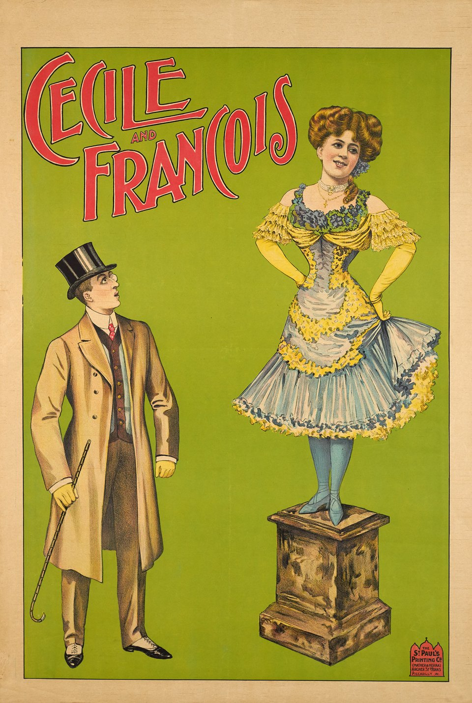 Cecile and François – Vintage poster –  ANONYME – 1900