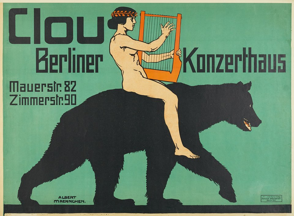 Clou, Berliner Konzerthaus – Affiche ancienne – Albert MEANNCHEN – 1913