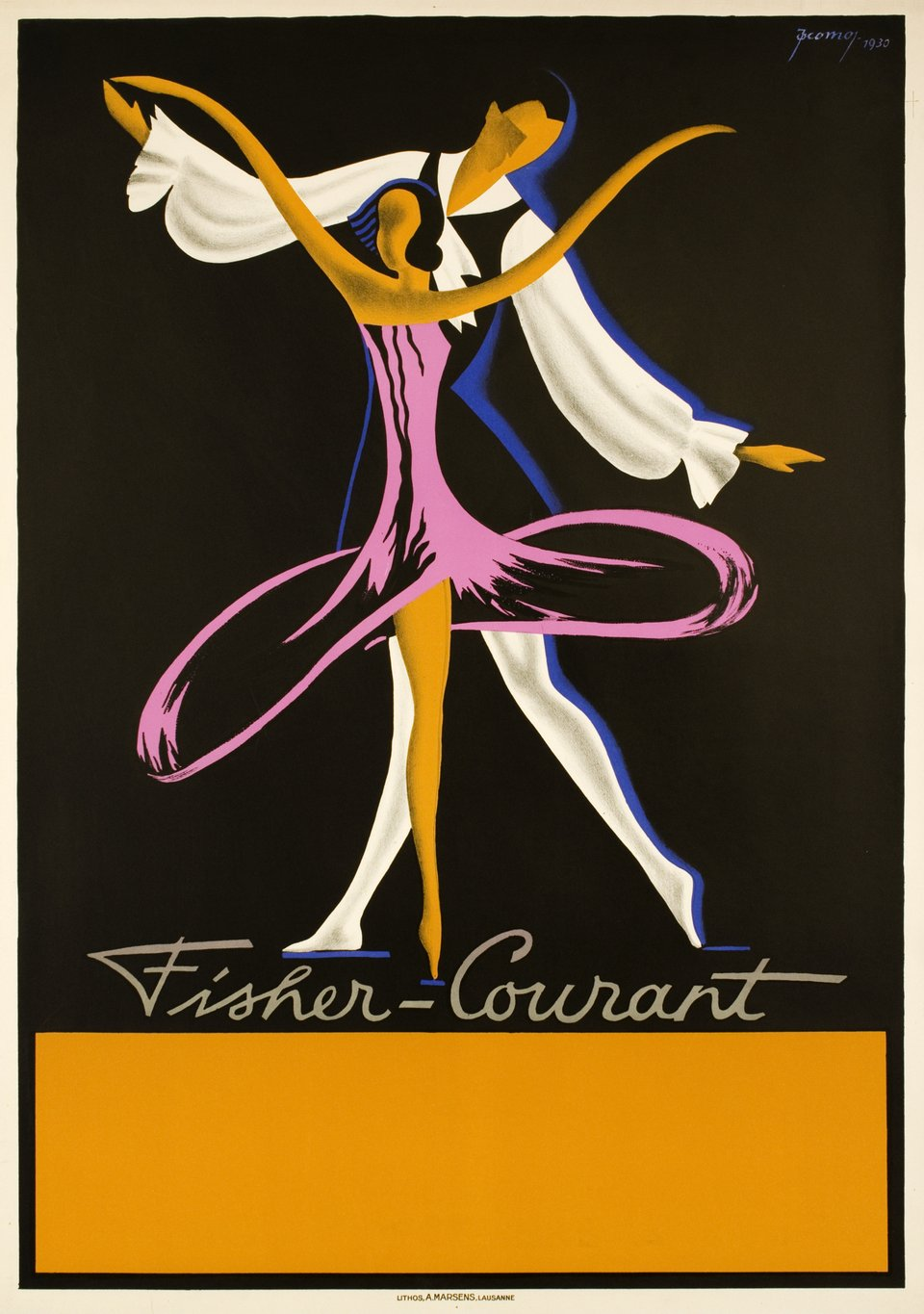 Fisher-Courant – Affiche ancienne – Jacomo MULLER – 1930