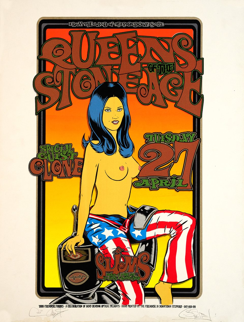 From the Land of Steppord comes the Queens of the Stone Age – Vintage poster – Ron DONOVAN, Chuck SPERRY – 1999