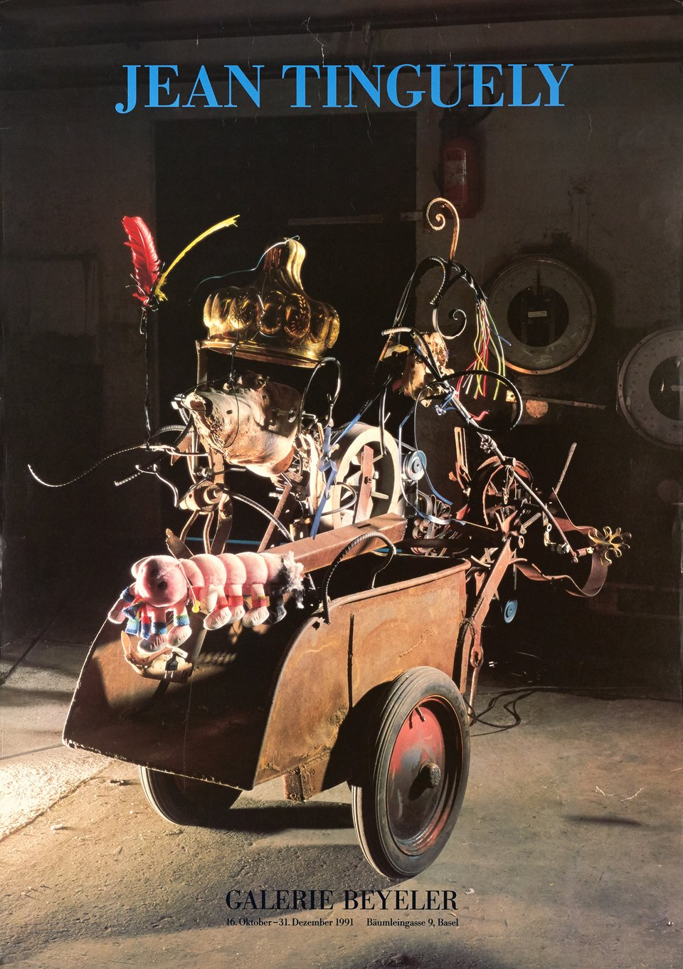 Galerie Beyeler, Jean Tinguely – Affiche ancienne – Jean TINGUELY – 1991