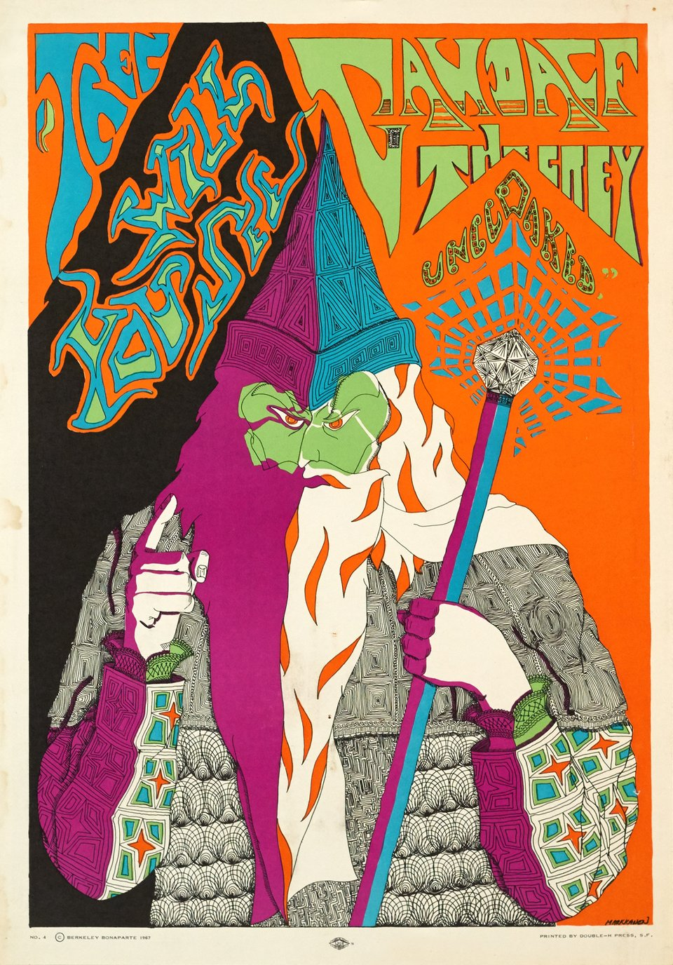 Gandalf the Grey, (Then you will see the Grey Uncloaked) – Vintage poster – Doug MARKKANEN – 1967