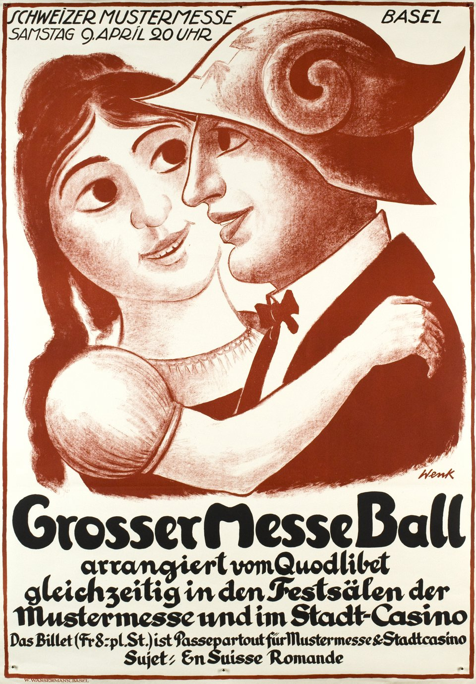 Grosser Messe Ball – Vintage poster – Willi WENK – 1930