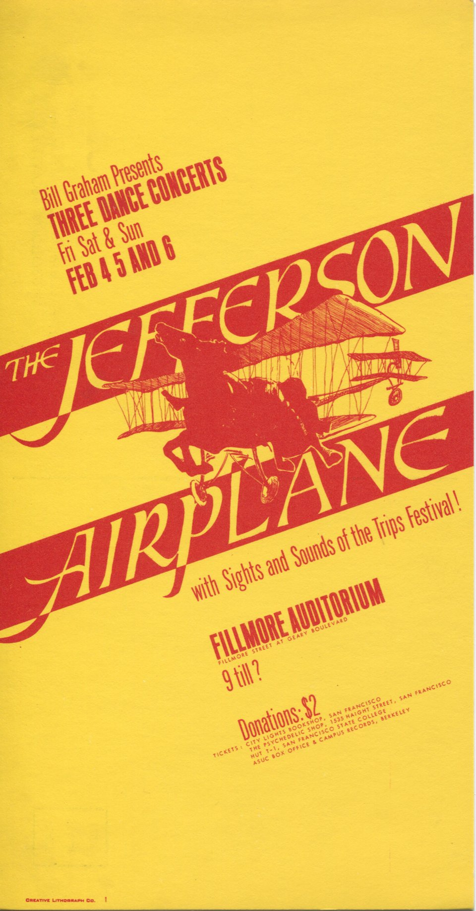 Jefferson Airplane – Vintage poster – Peter Bailey – 1966