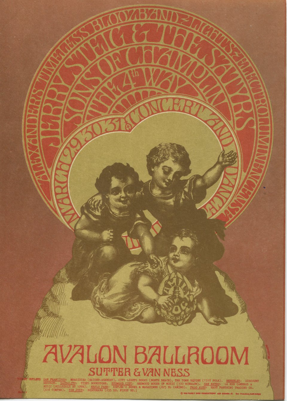Jeremy Steig and the Satyrs, Sons of Champlin, Fourth Way – Vintage poster – Bob Schnepf – 1968