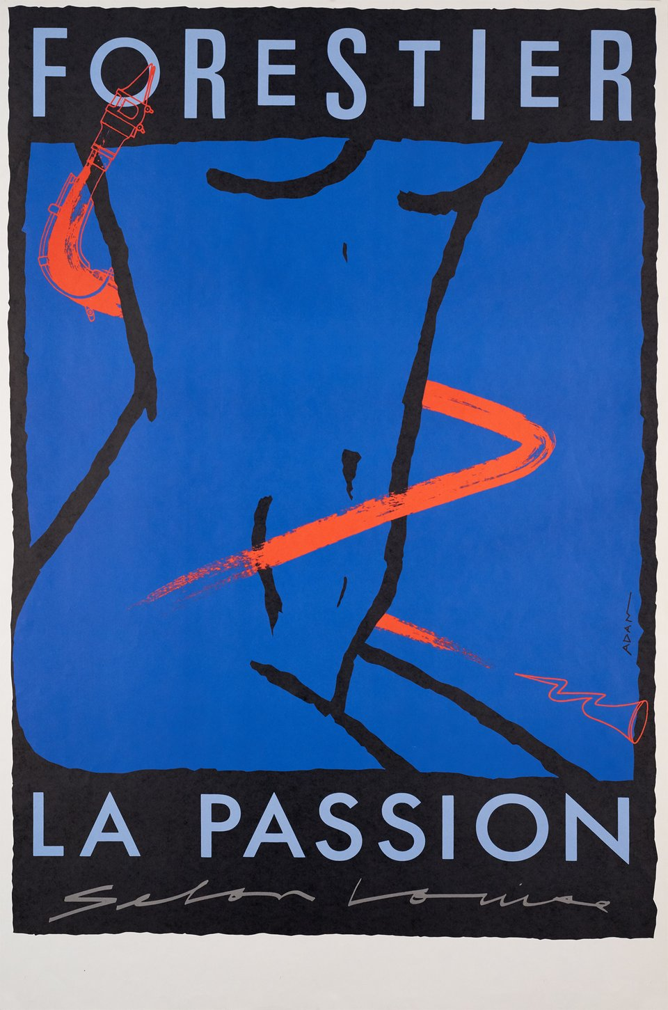 La passion selon Louise – Vintage poster – Adam – 1980