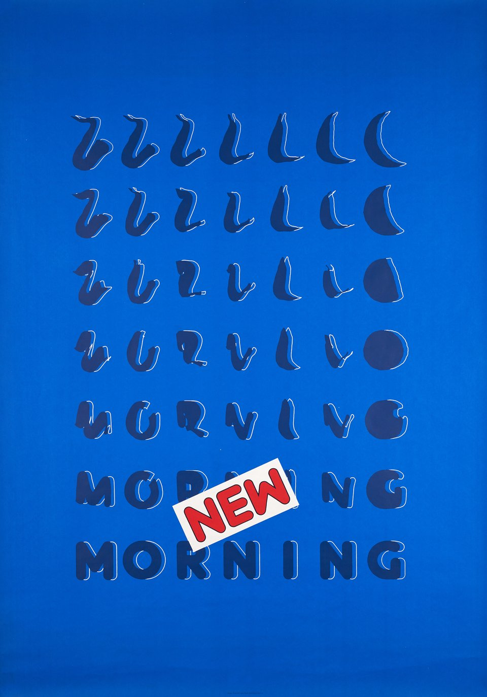 New Morning – Vintage poster – Roger PFUND – 1984