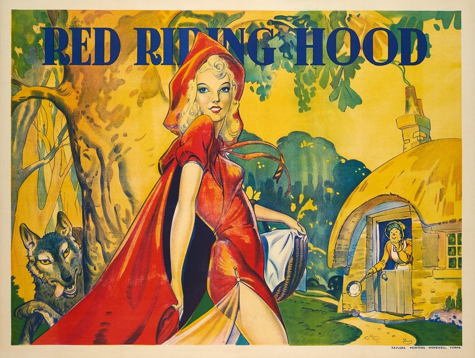 Red Riding Hood – Affiche ancienne –  ANONYME – 1930