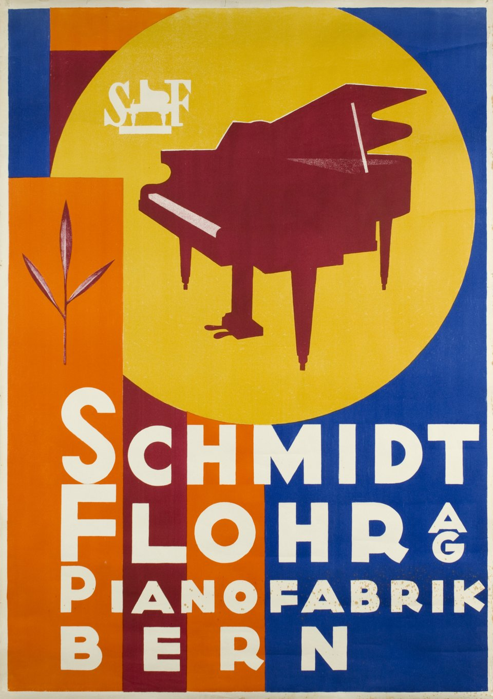 Schmidt Flohr AG - Pianofabrik Bern – Vintage poster – ANONYME – 1940