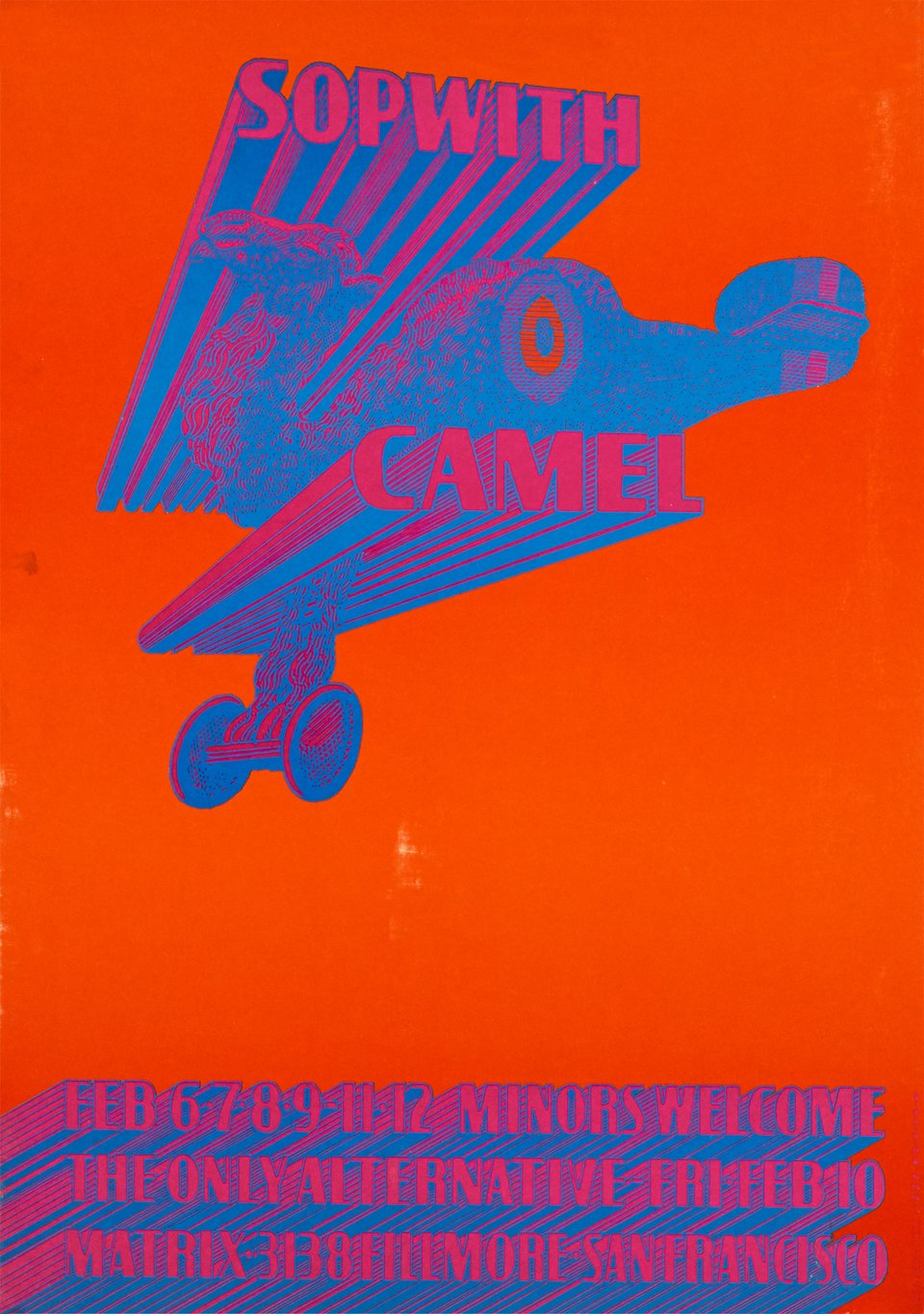 Sop with Camel at the Matrix – Affiche ancienne – Victor MOSCOSO – 1967