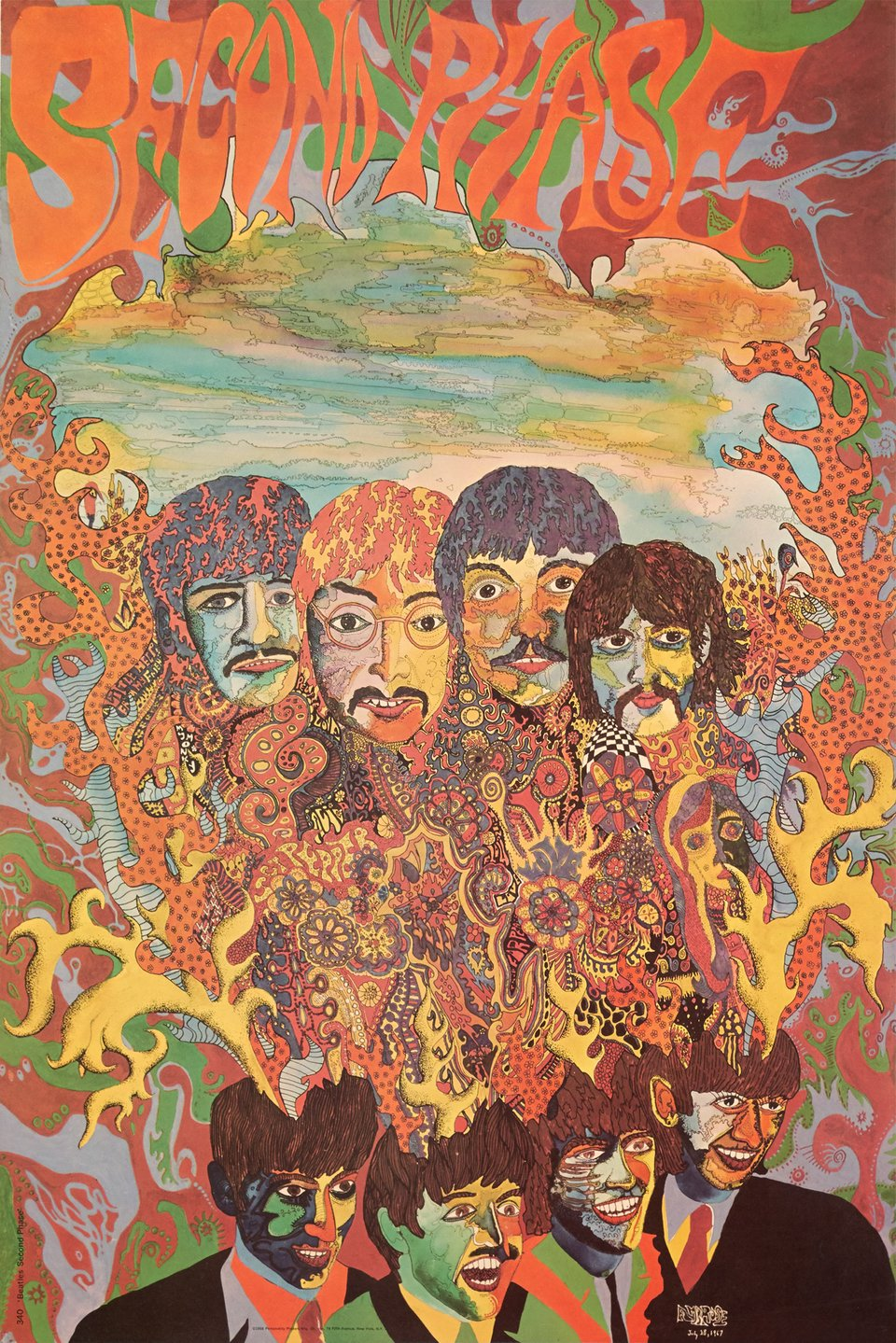 The Beatles, Second phase 1967 – Affiche ancienne –  AMBROSE – 1968