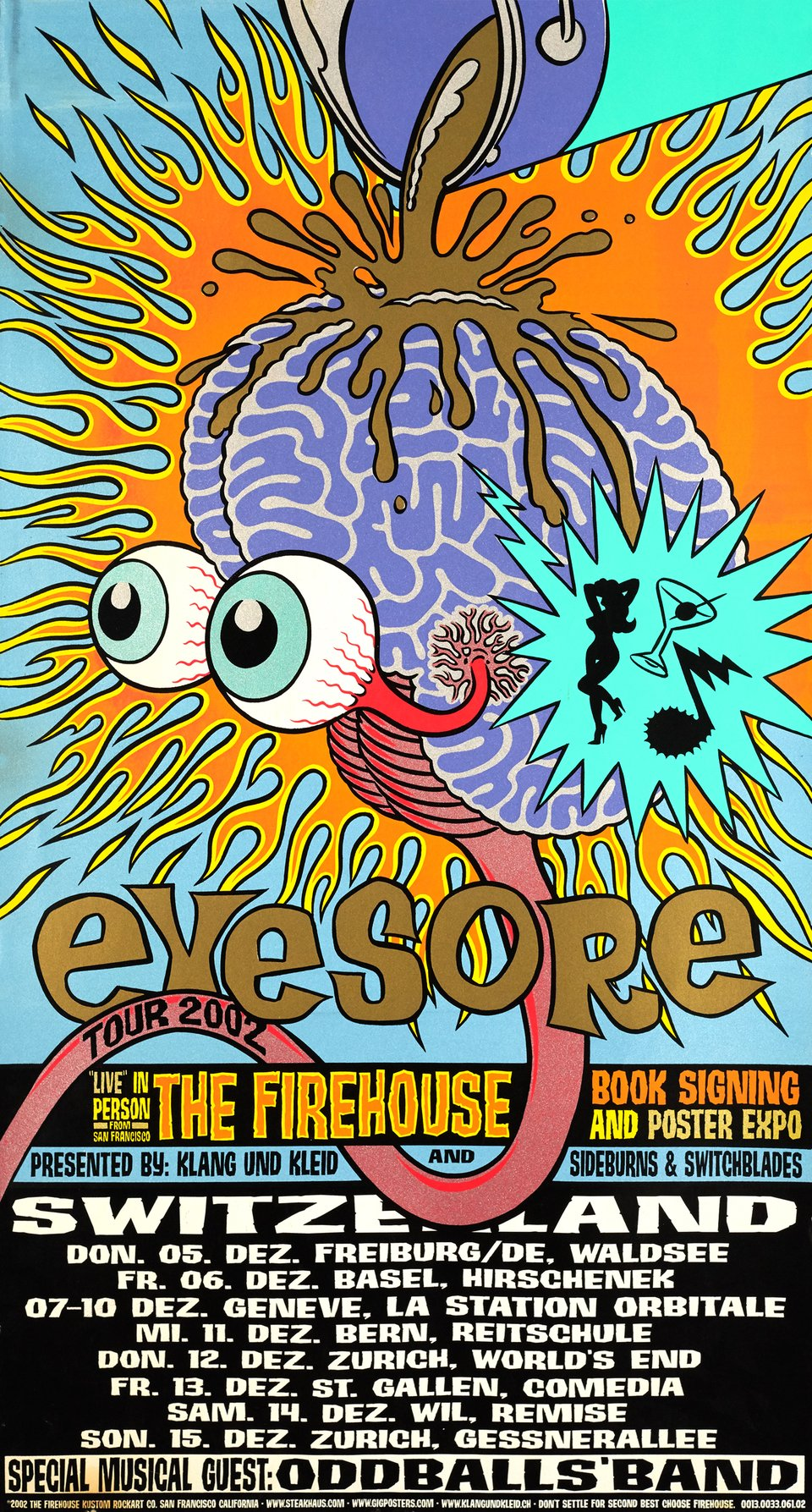 The Firehouse, Eyesore Tour 2002, Live in Person from San Francisco – Vintage poster – ANONYMOUS – 2002