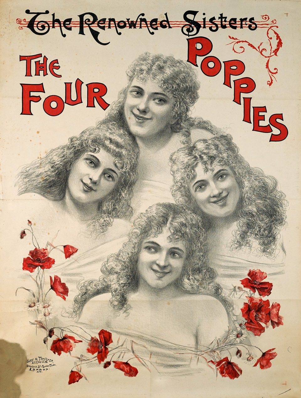 The Four Poppies – Vintage poster – ANONYME – 1900
