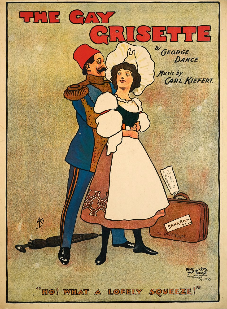 The Gay Grisette – Vintage poster – John HASSAL – 1895