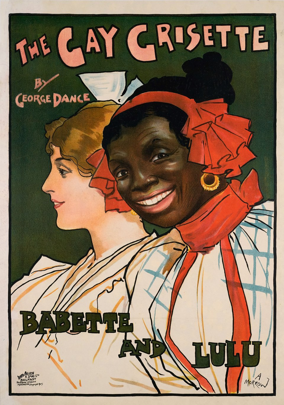 The Gay Grisette, Babette and Lulu – Vintage poster – Albert MORROW – 1900