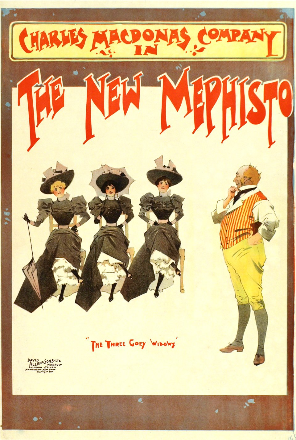 The New Mephisto, The Three Goey Widows – Vintage poster –  ANONYME – 1900