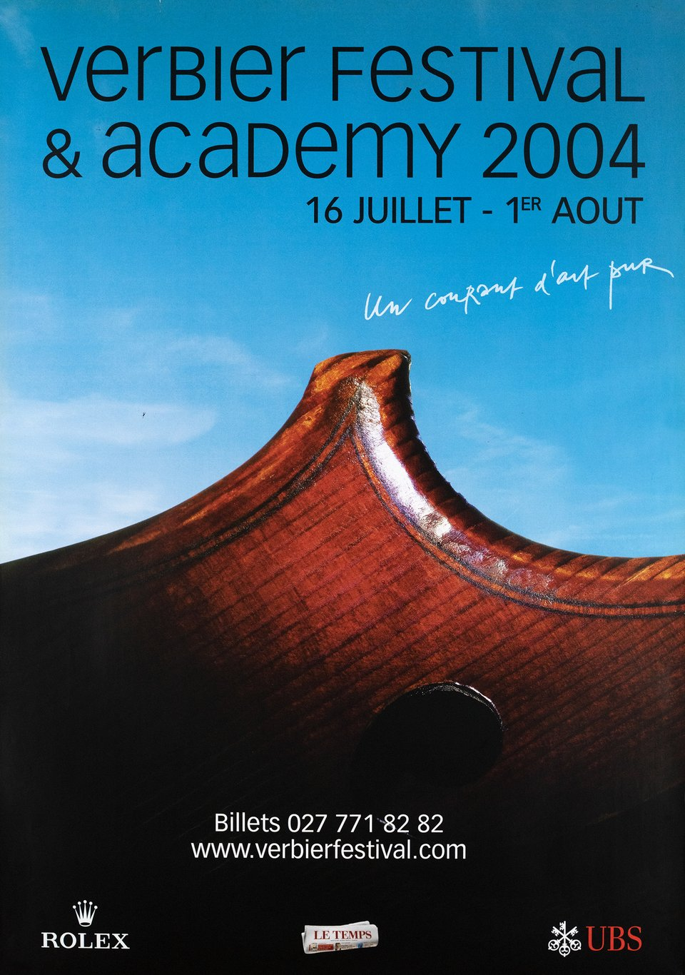 Verbier Festival & Academy – Vintage poster – ANONYME – 2004