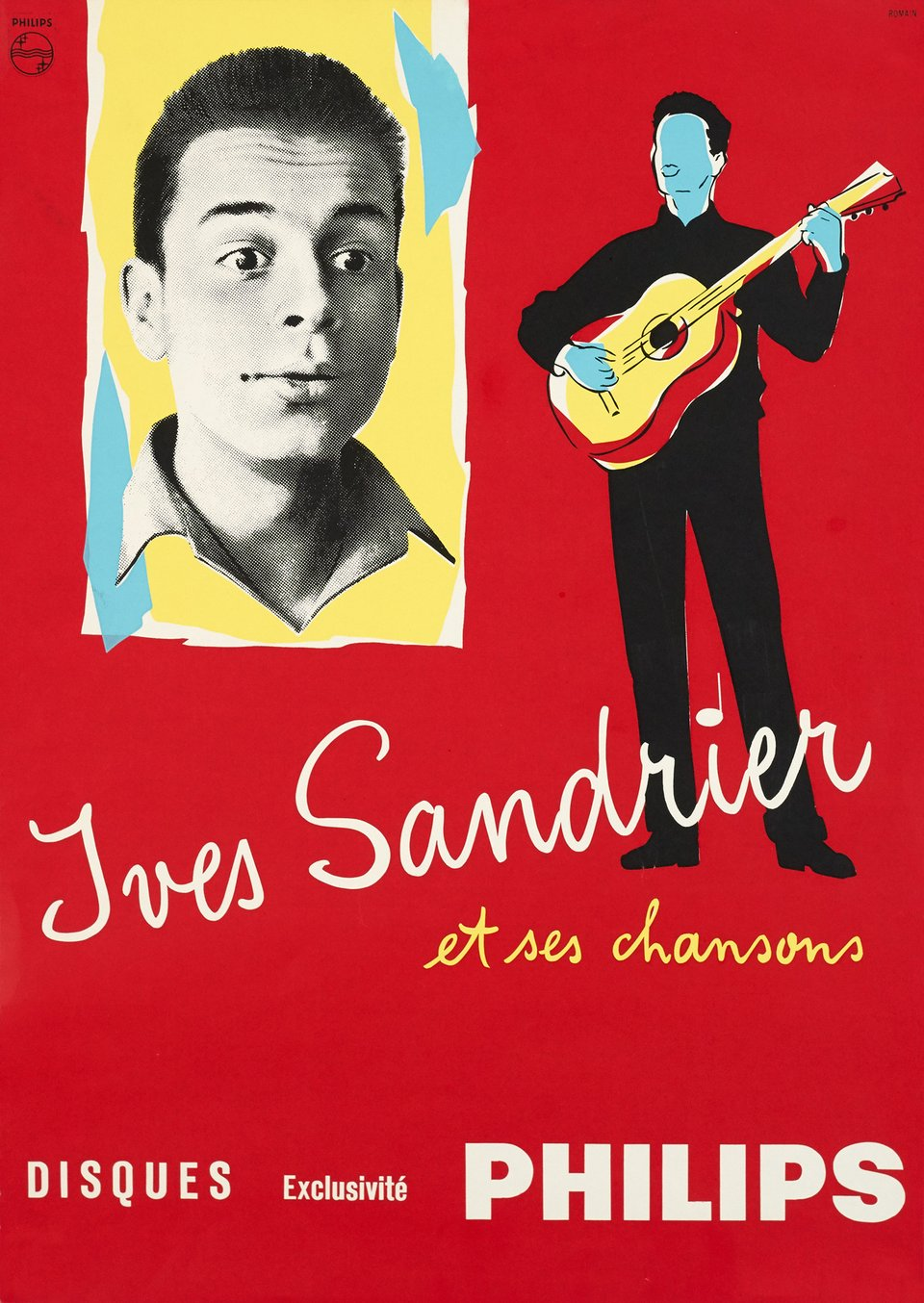 Yves Sandrier et ses chansons – Vintage poster –  ANONYME – 1957