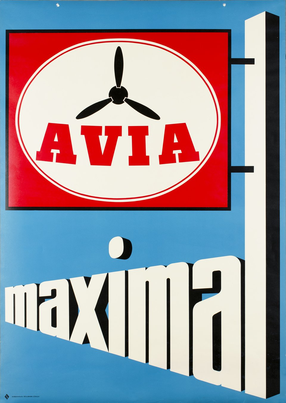 Avia Maximal – Affiche ancienne –  ANONYME – 1955