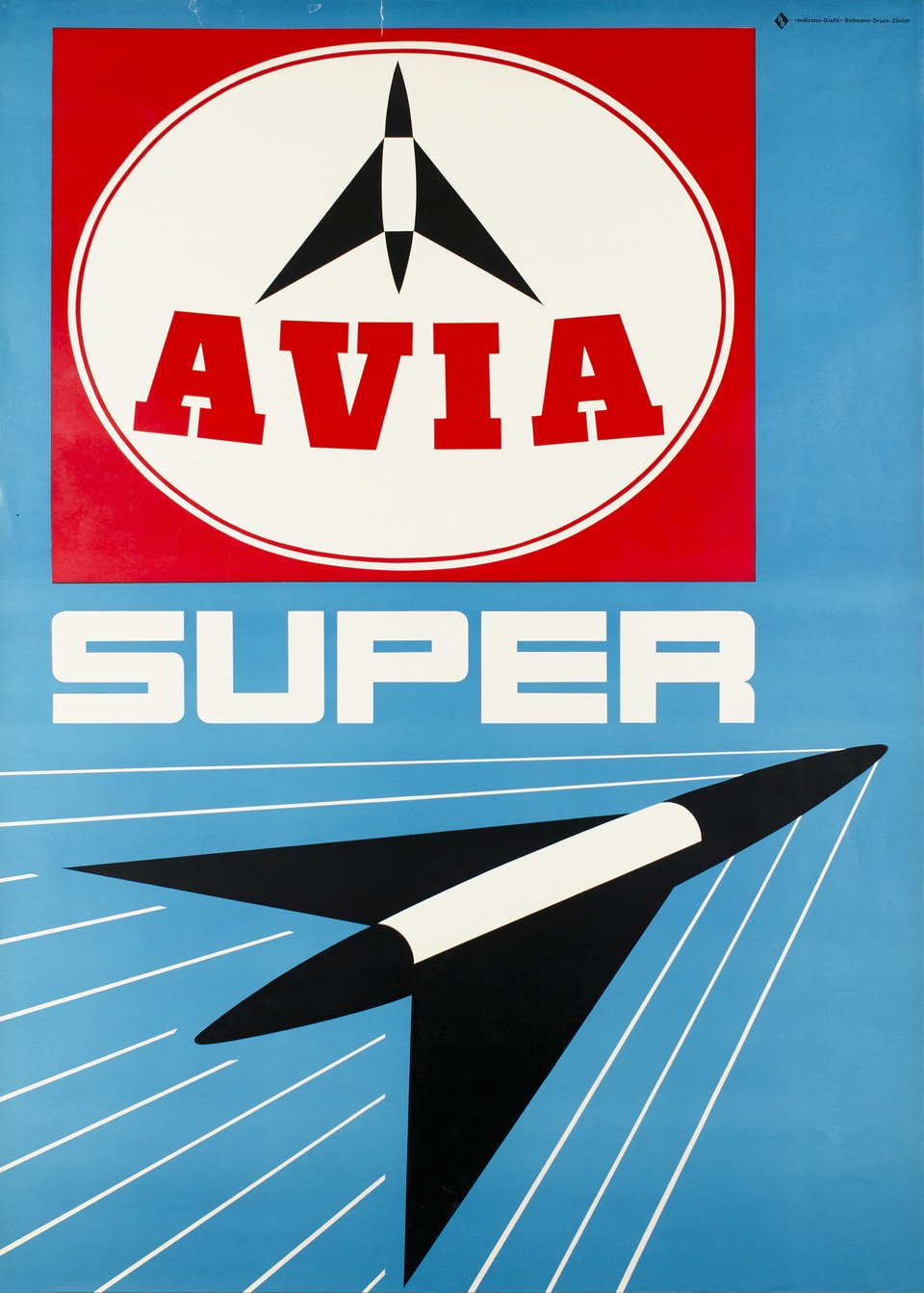 AVIA, Super – Vintage poster – ANONYME – 1955