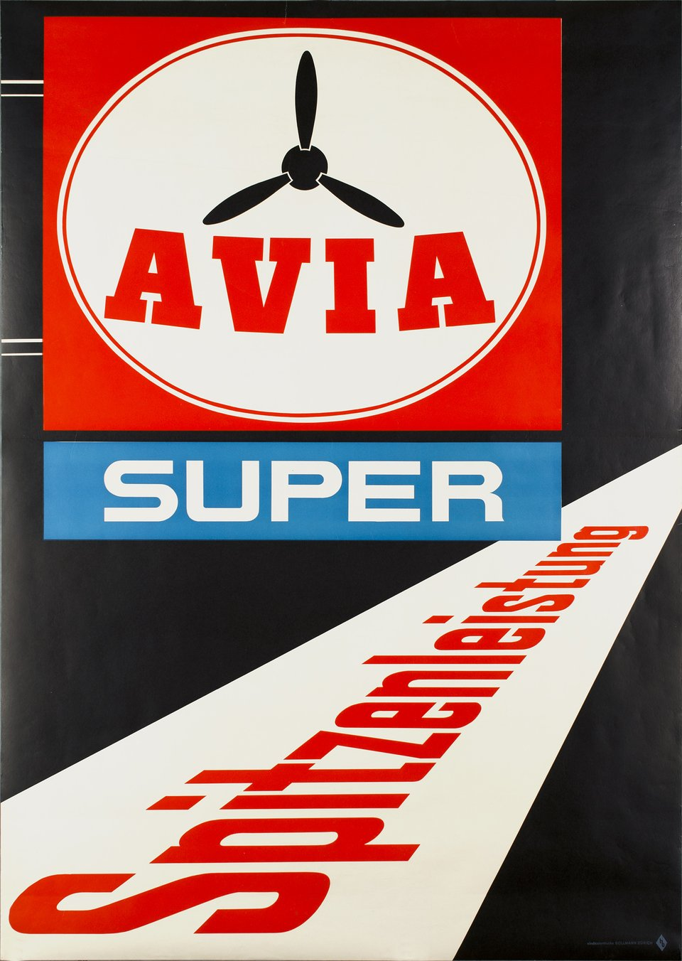 Avia Super, Spitzenleistung – Affiche ancienne – ANONYMOUS – 1955