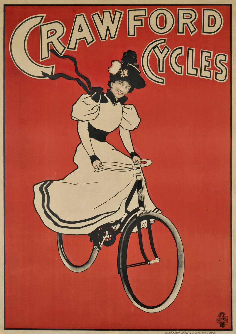 Crawford Cycles – Affiche ancienne – ANONYME – 1900