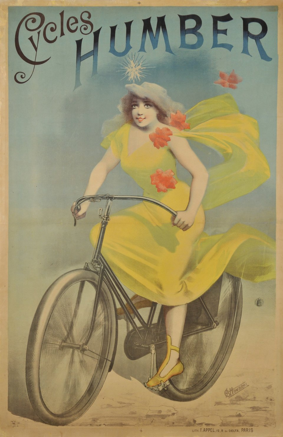 Cycles Humber – Vintage poster – Alfred CHOUBRAC – 1895
