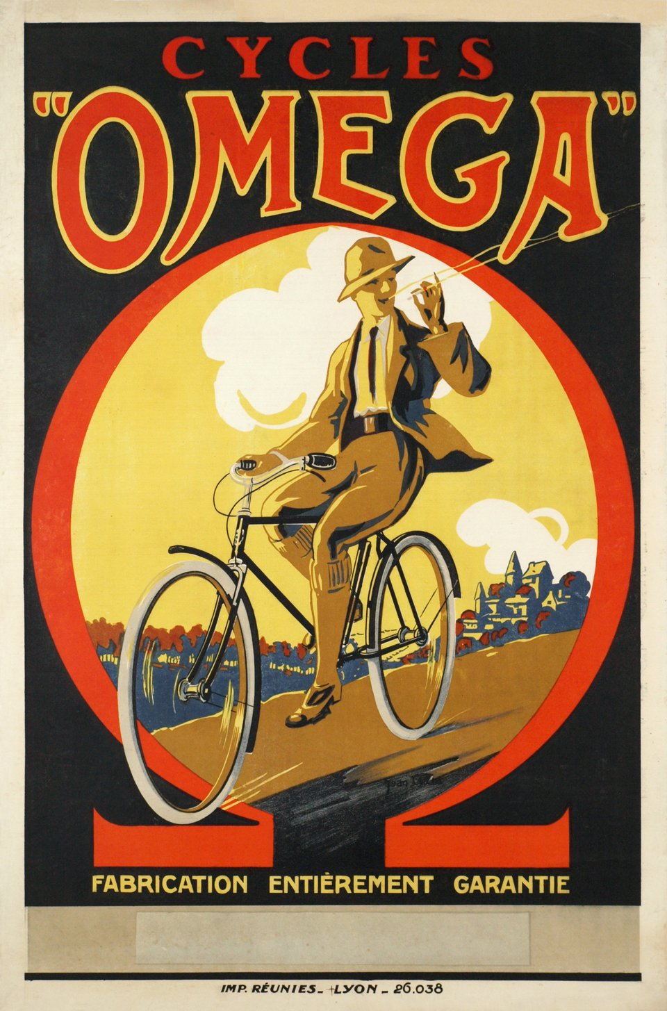 Cycles Omega – Vintage poster – Jean CUGN – 1925