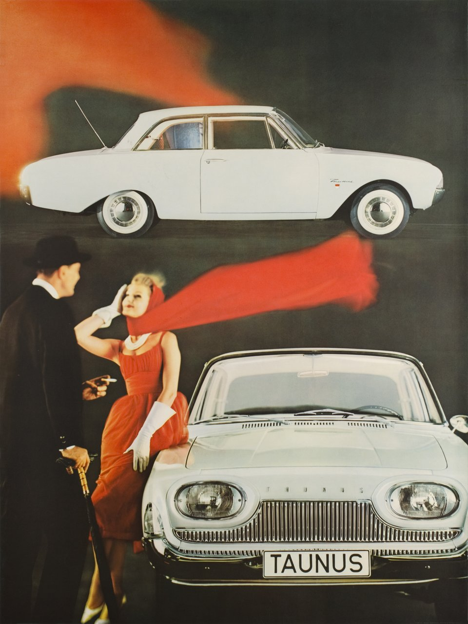 Ford Taunus – Vintage poster – ANONYMOUS – 1960