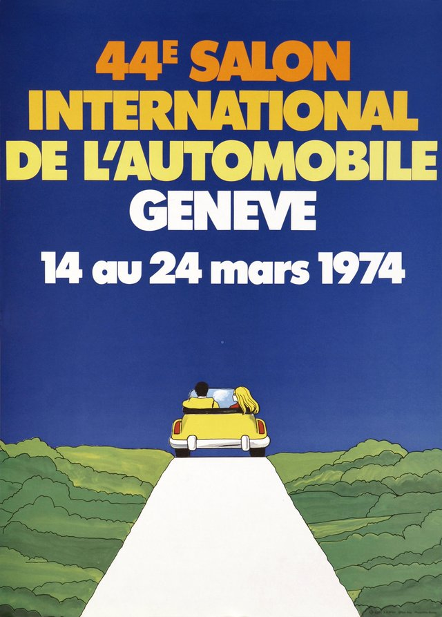 Genève, 44ème Salon International de l'Automobile, 14 au 24 mars 1974
