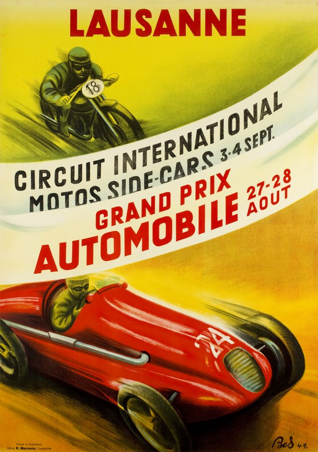 Lausanne, Grand Prix Automobile, Circuit International Motos Side-Cars 1949