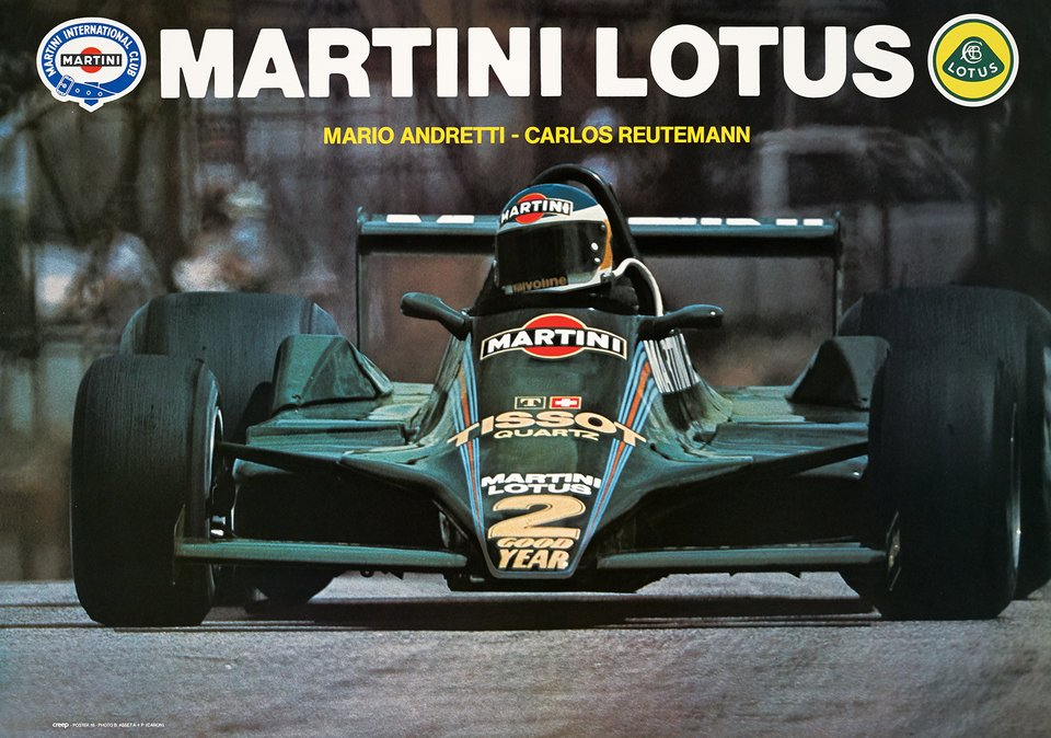 Martini Lotus – Affiche ancienne – B. ASSET – 1979