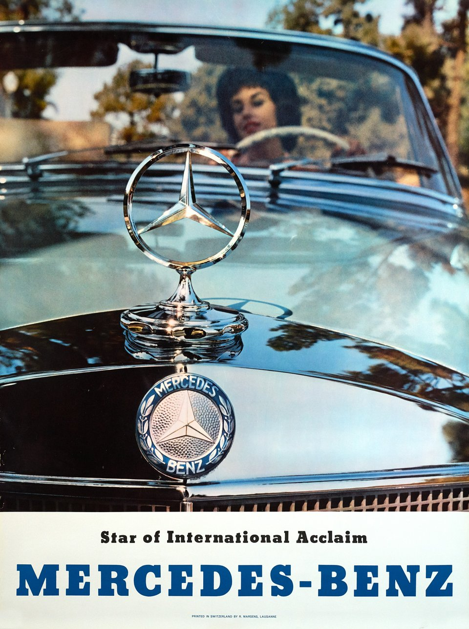 Mercedes-Benz SE Cabriolet, Star of International Acclaim – Affiche ancienne – ANONYME – 1965