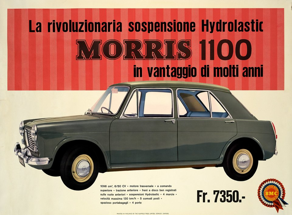 Morris 1100 – Vintage poster – ANONYME – 1970