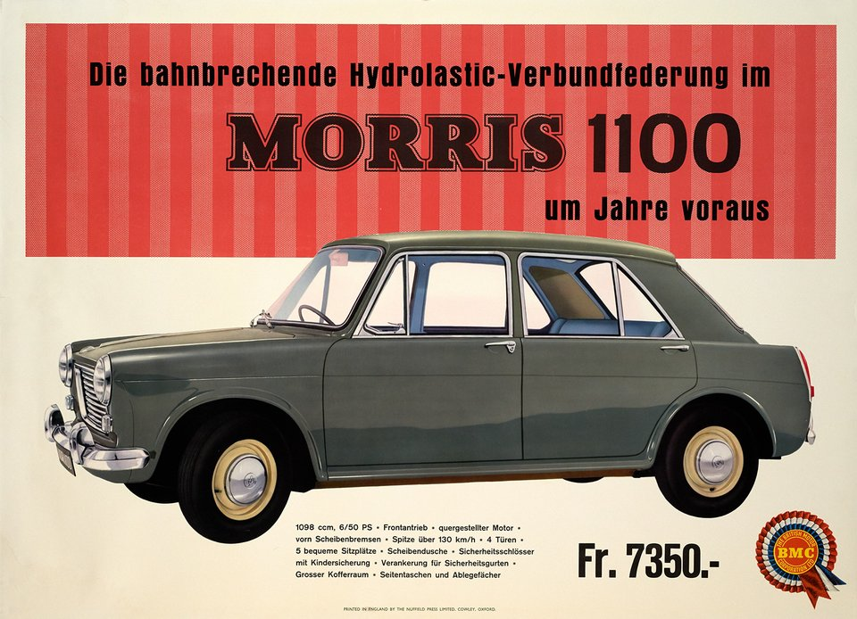 Morris 1100 – Affiche ancienne – ANONYME – 1970